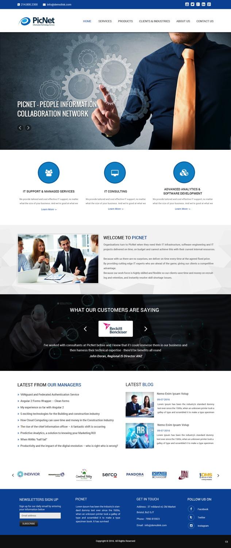 Elegant Playful Web Design For Picnet Pty Ltd By Pb Design 11097698