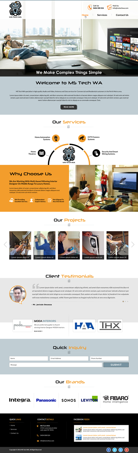 59 Serious Web Designs | Home Improvement Web Design Project for MS ...