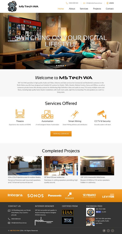 Web Design For Ms Tech Wa Pty