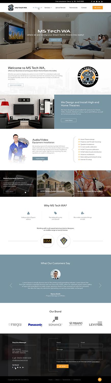 Serious, Modern, Home Improvement Web Design for MS Tech WA Pty Ltd ...