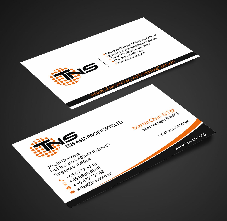 Elegant, Modern, Information Technology Business Card Design
