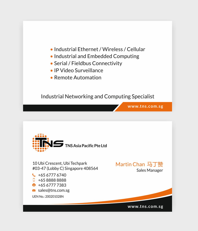 Elegant, Modern, Information Technology Business Card Design for TNS ...