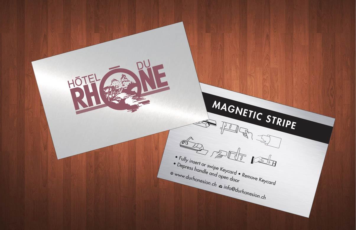Elegant, Modern Business Card Design for Hôtel du Rhône Sion Sàrl by ...