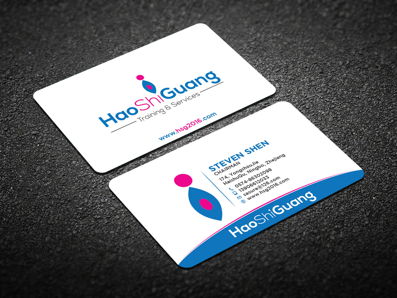 Modern, Feminine Business Card Design for Ningbo Good Time ...