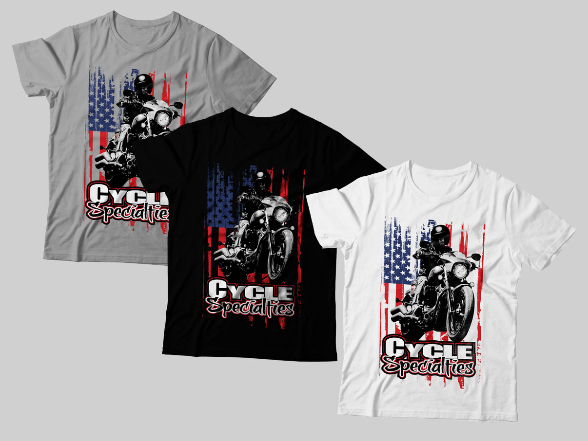 Professional Masculine T Shirt Design For Cycle