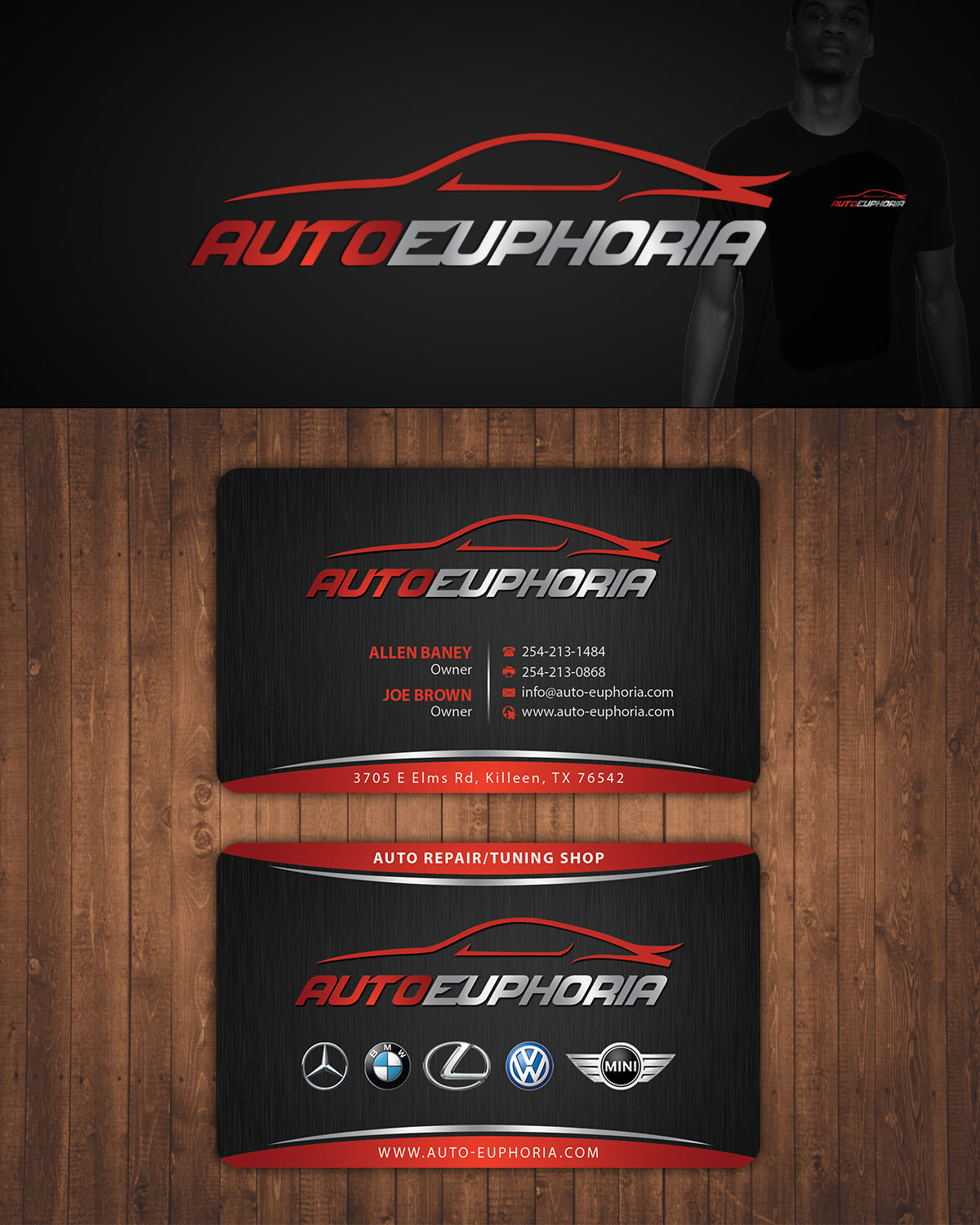 Modern upmarket automotive business card design for autoeuphoria business card design by stylez designz for this project design 11141031 reheart Images