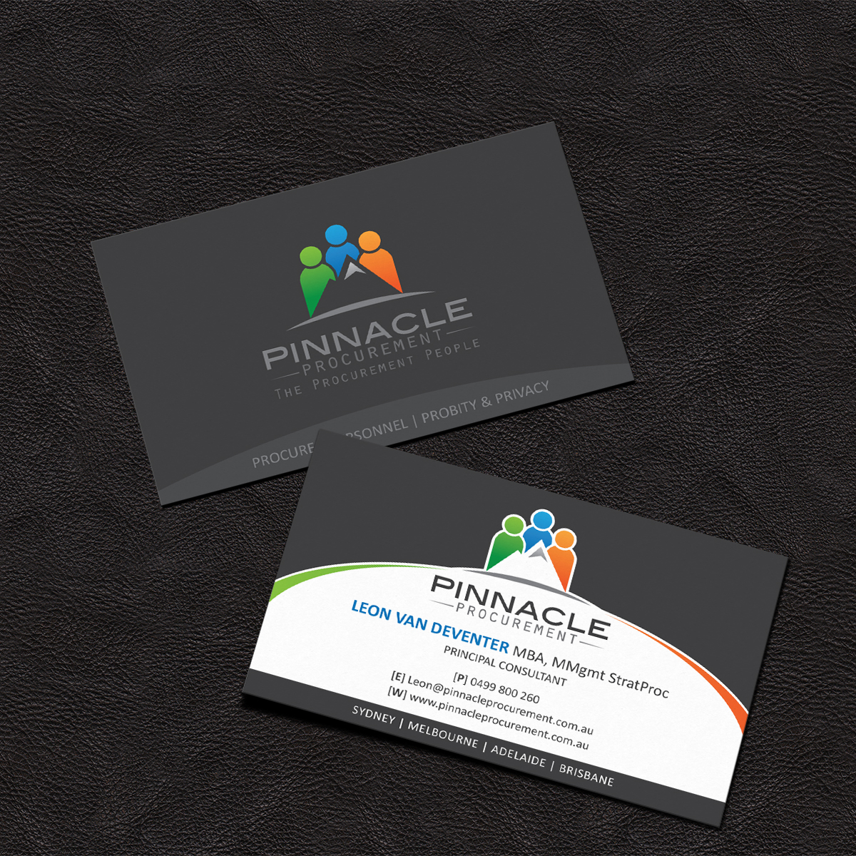 Professional modern consulting business card design for pinnacle business card design by grafactory for pinnacle procurement design 11180357 reheart Images
