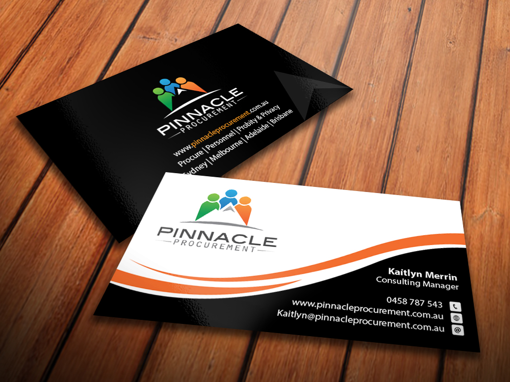 Professional, Modern, Consulting Business Card Design for Pinnacle ...
