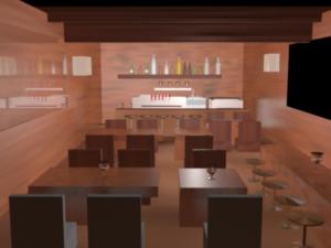 3D Design (Design #11356434) Submitted To 25 Sqm Craft Beer Restaurant Design  Ideas