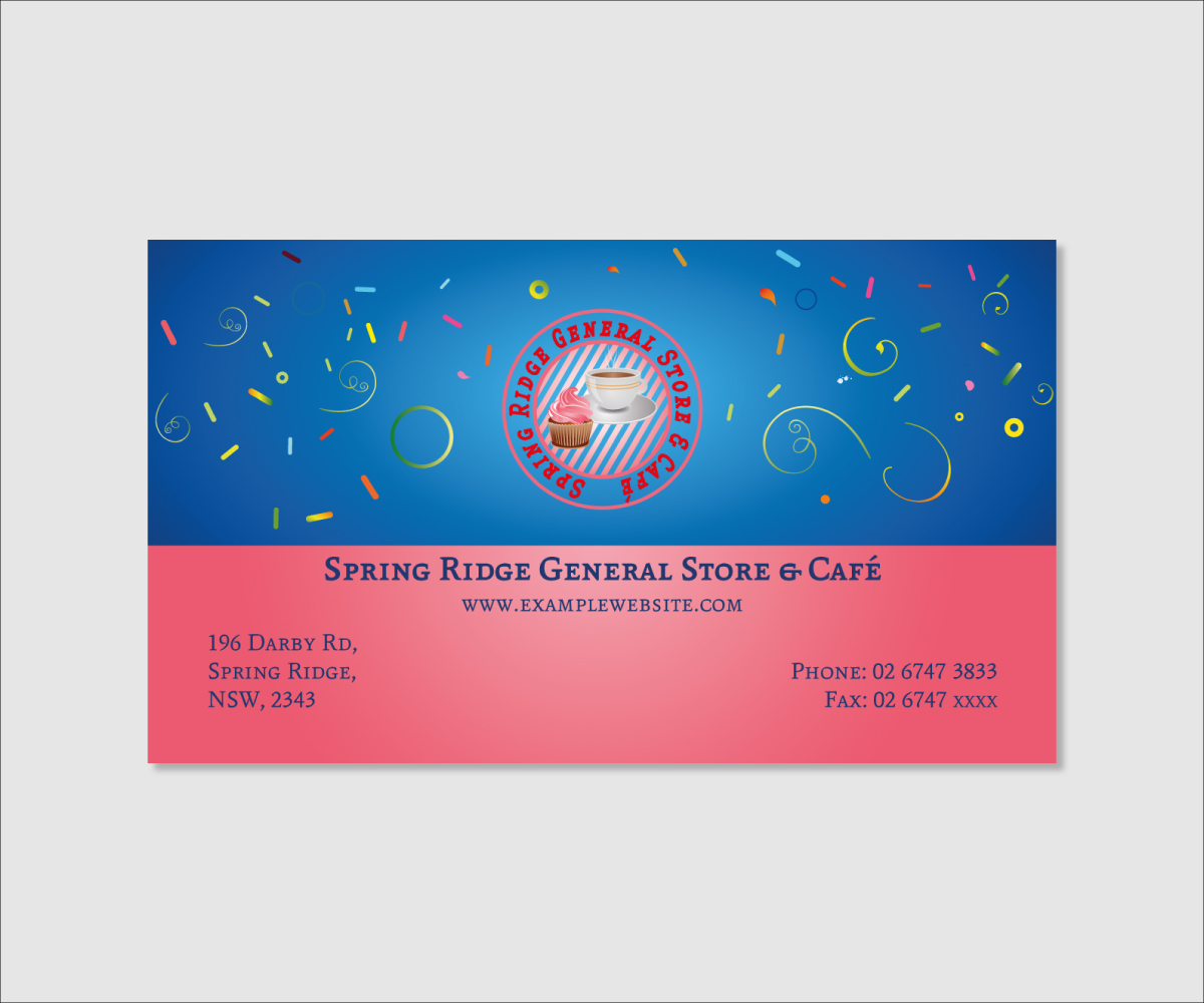 15 Business Card Designs Store Business Card Design Project For A