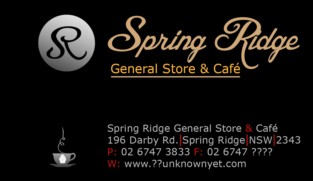 Store business card design for spring ridge general store cafe by business card design by saiartist for this project design 2299519 reheart Images