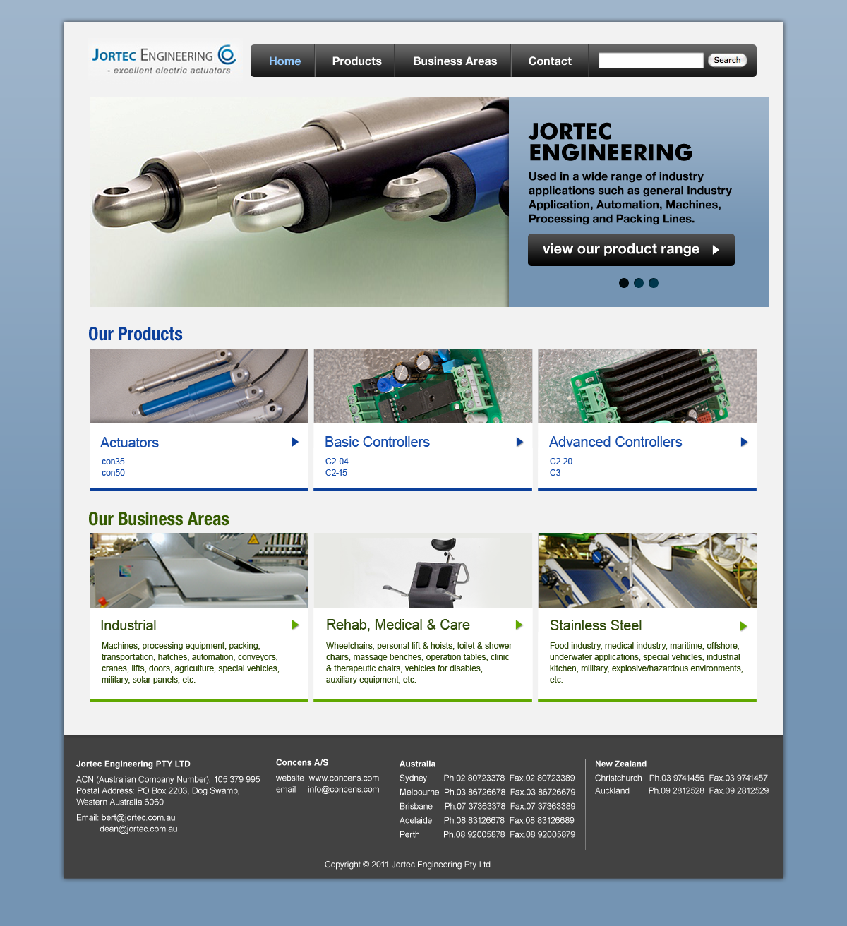 Professional, Upmarket, Automotive Web Design for a Company