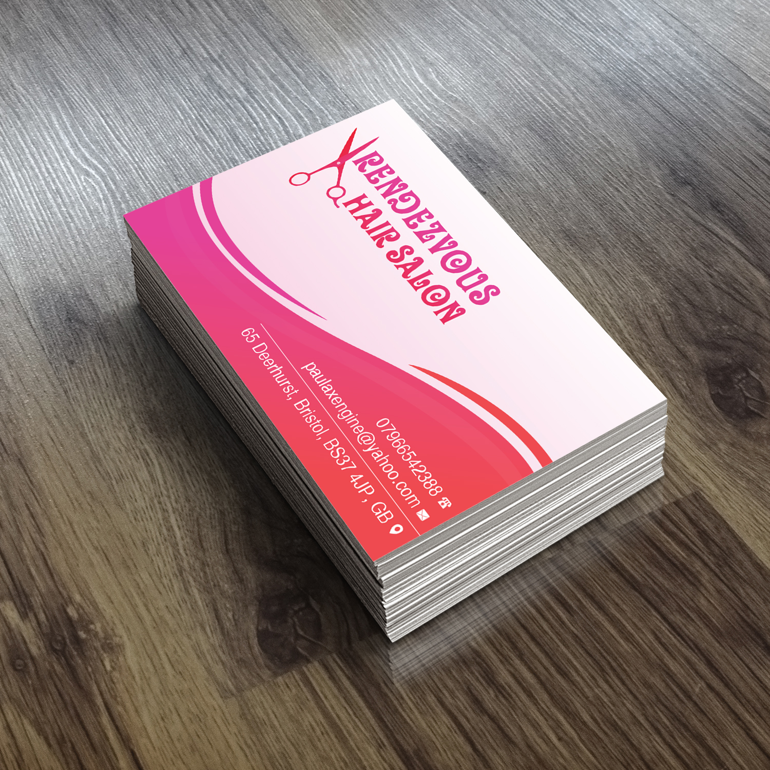 Conservative Economical Beauty Salon Business Card Design For A