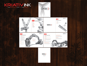 Brochure Design job – CONTRATEK – Winning design by Callie Beatrice 2013