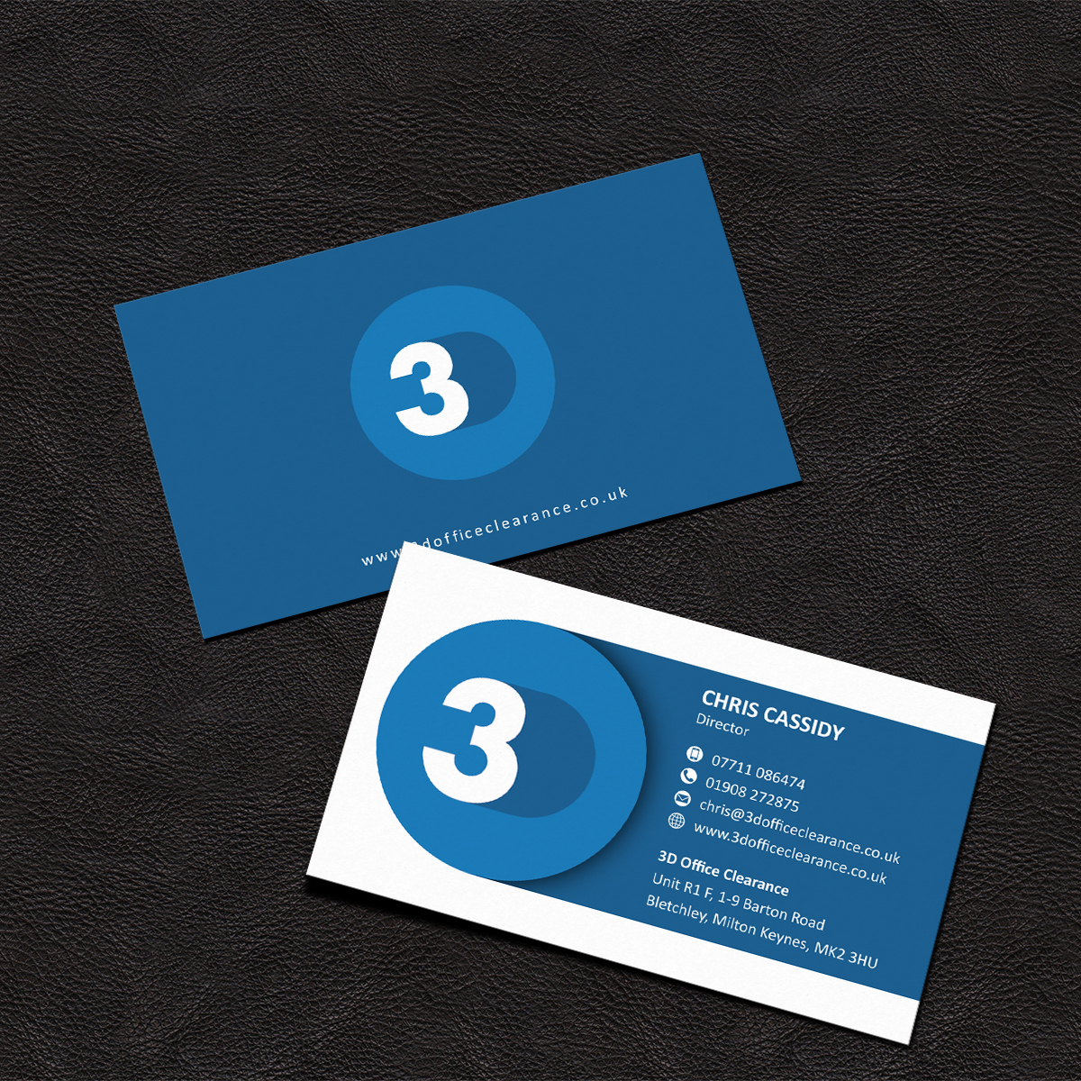 Modern professional business card design for chris cassidy by business card design by grafactory for business card design for office furniture clearance company design reheart Image collections