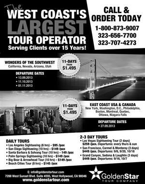 Flyer Design by Purple Hearts  - Sightseeing Tour Company Needs Grayscale Flyer ...