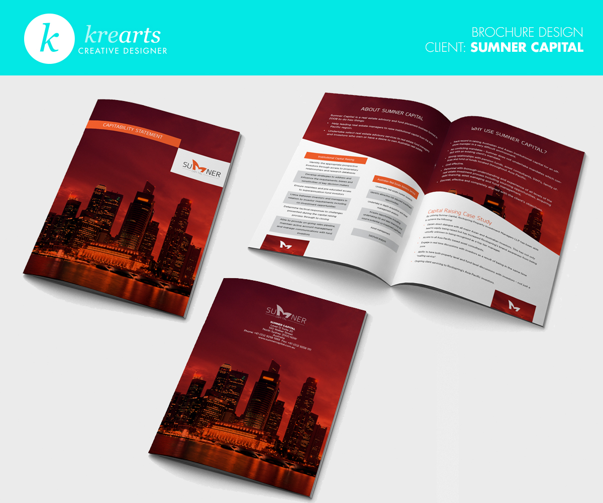 classy brochure design - elegant playful brochure design for a company by krearts