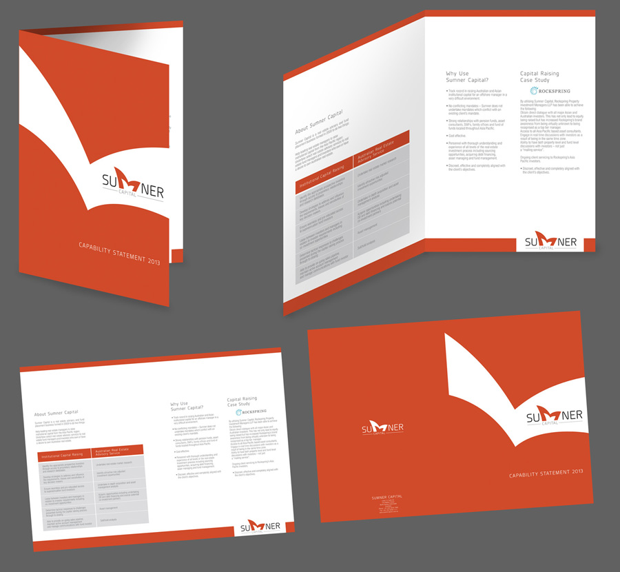 classy brochure design - elegant playful brochure design for a company by vox
