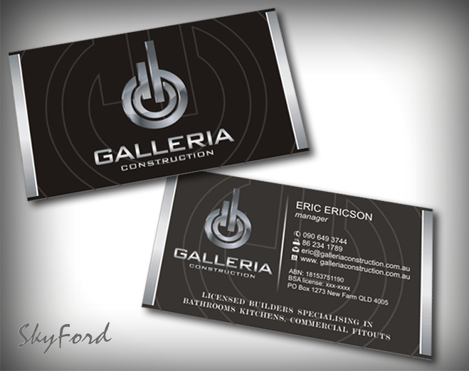 Bold serious construction business card design for galleria bold serious construction business card design for galleria construction in australia design 480703 reheart Choice Image