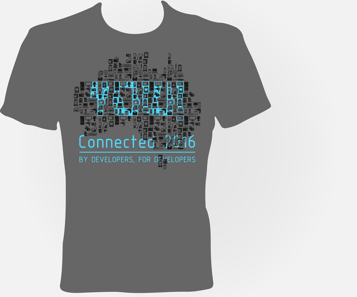 Shirt design melbourne - T Shirt Design By Jayneel_s For Mobile Development Conference In Melbourne Yow Connected