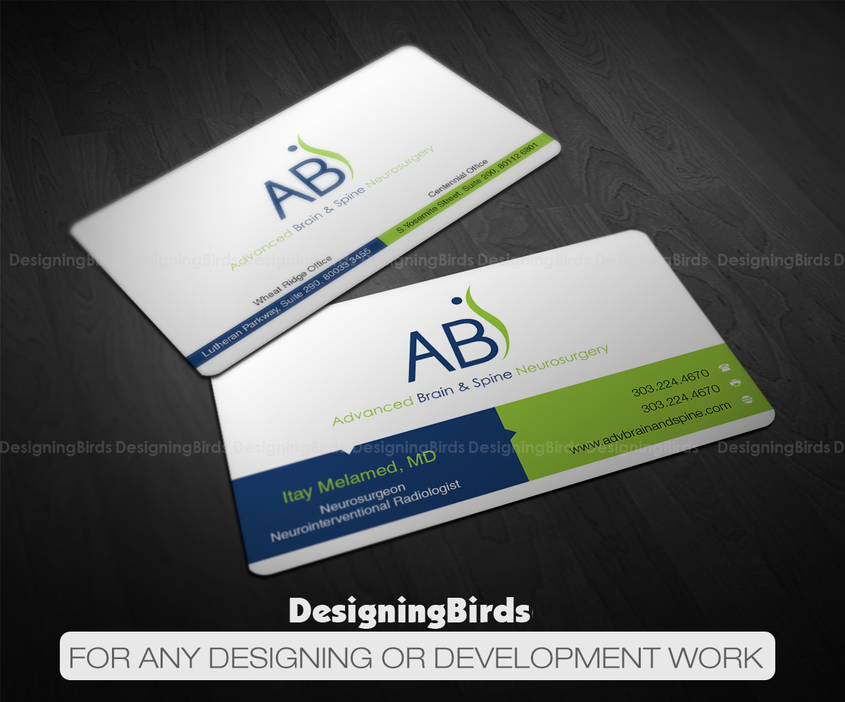 business card design by designing birds for advanced brain spine design 11214348 - Doctor Business Card