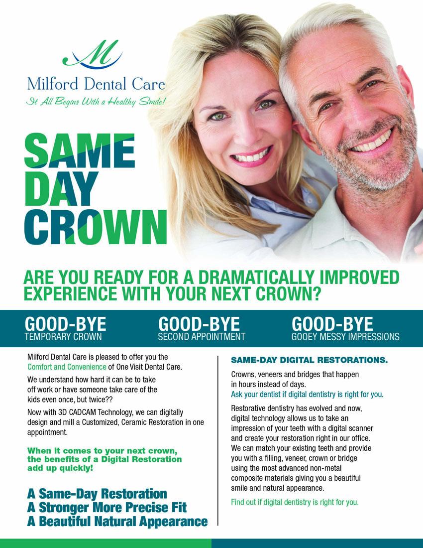 Elegant, Upmarket, Dental Flyer Design for Milford Dental