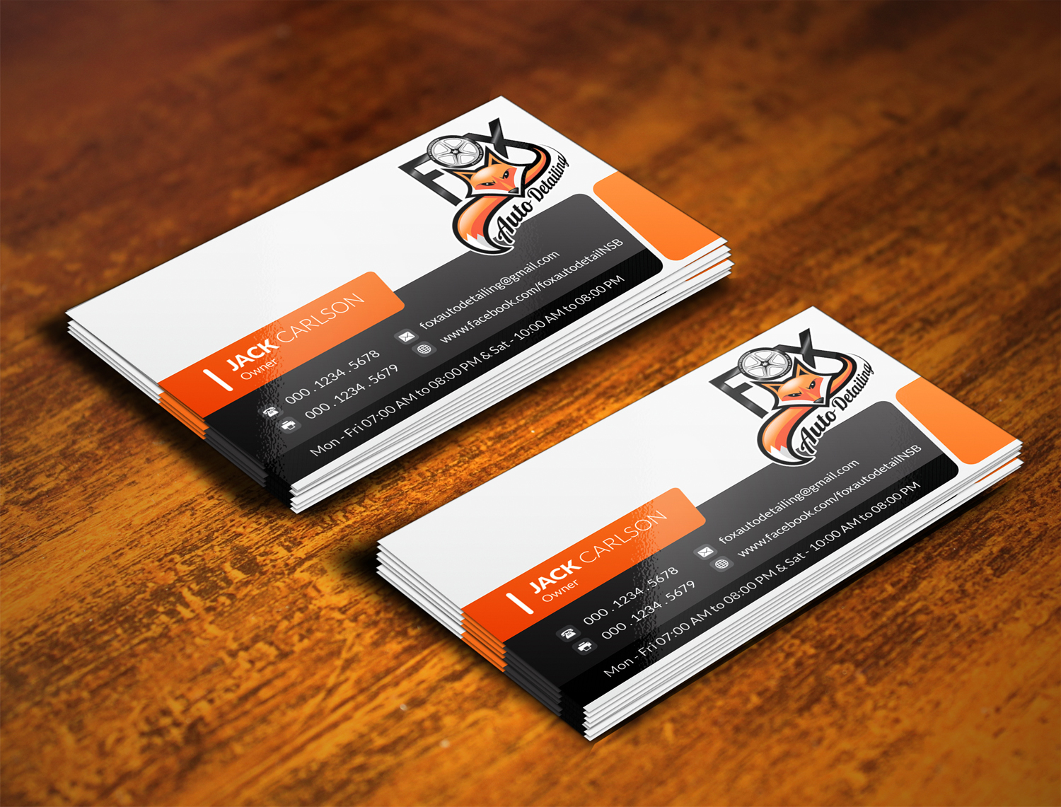 Bold professional automotive business card design for fox bold professional automotive business card design for fox automotive detailing in united states design 11209980 reheart Choice Image