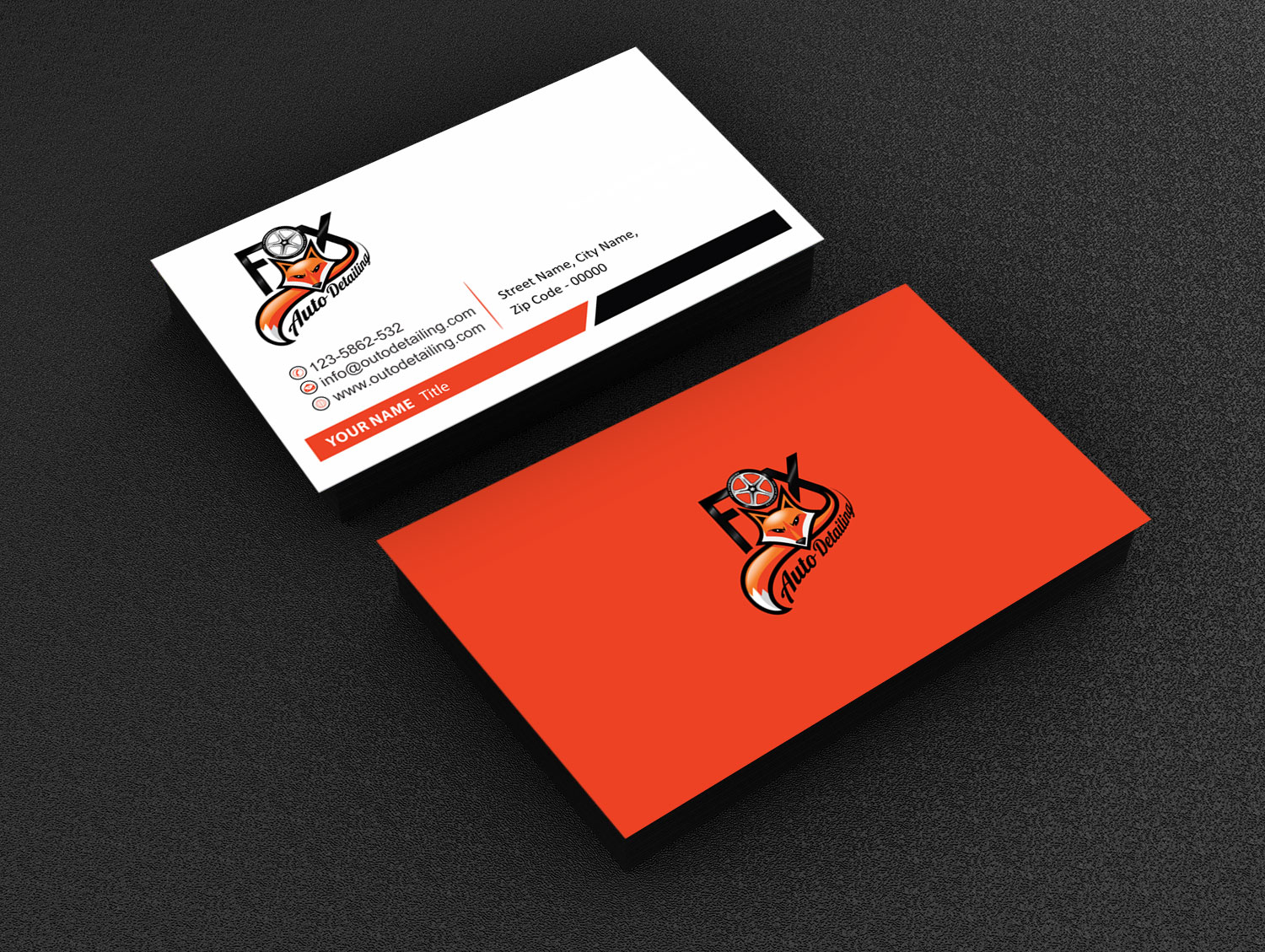 Bold, Professional, Automotive Business Card Design for Fox ...