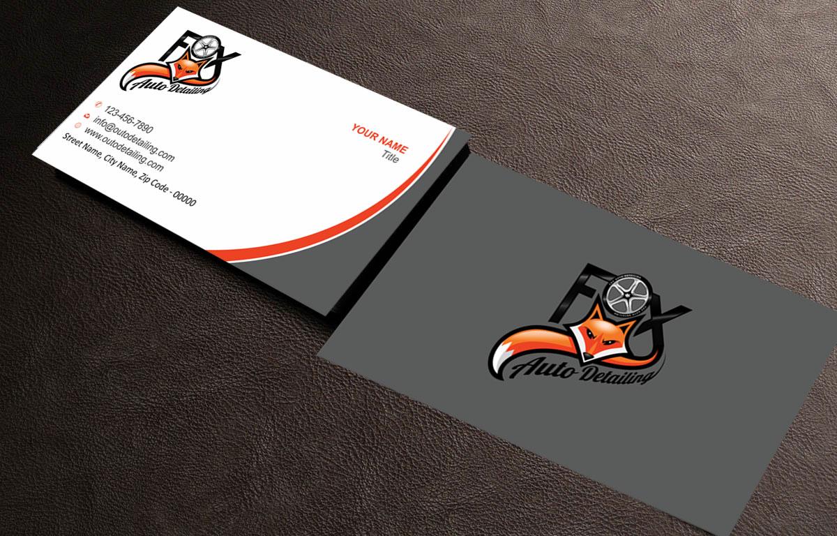 Bold professional automotive business card design for fox bold professional automotive business card design for fox automotive detailing in united states design 11233198 reheart Choice Image