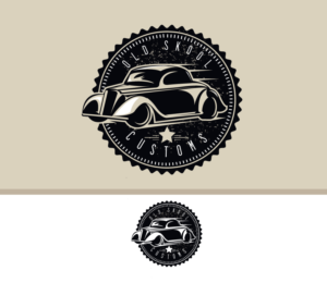 Bold Traditional Automotive Logo Design For Old Skool Customs By