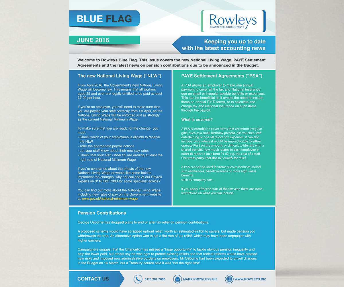 upmarket modern accounting flyer design for the rowleys