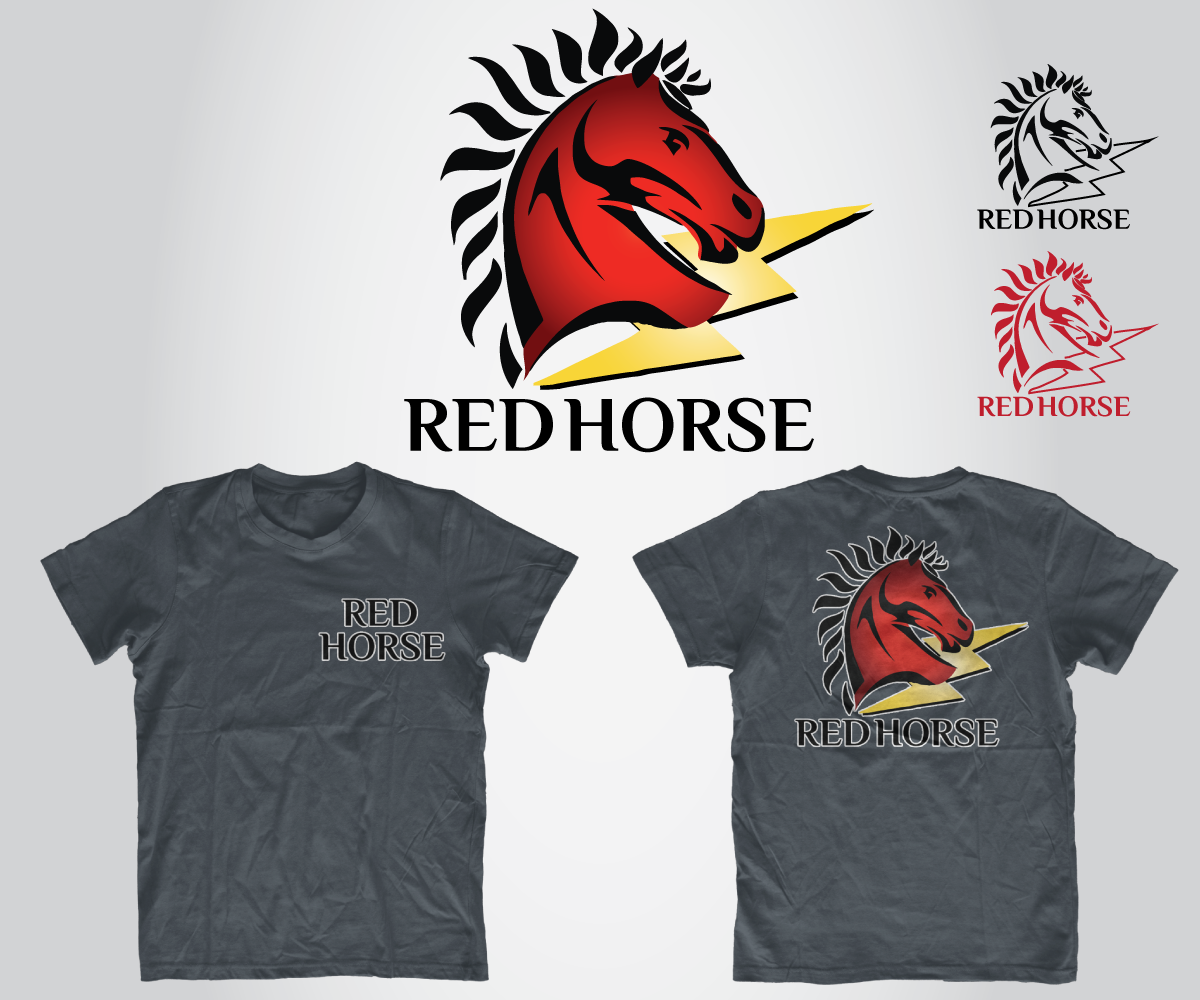 Design a t shirt horse - T Shirt Design By Le Art For Us Air Force Red Horse T Shirt