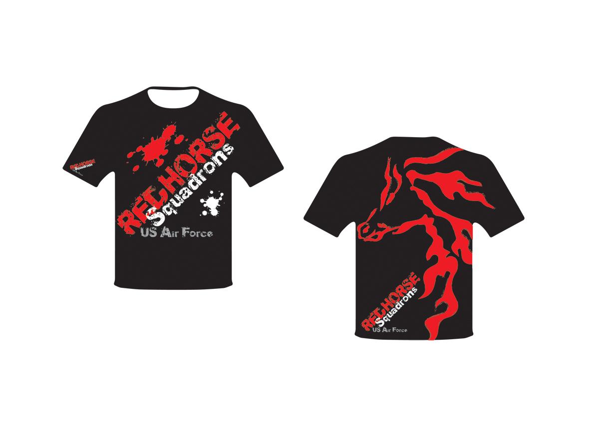 Design a t shirt horse - T Shirt Design By Abee Creative Annie Lam For Us Air Force Red Horse