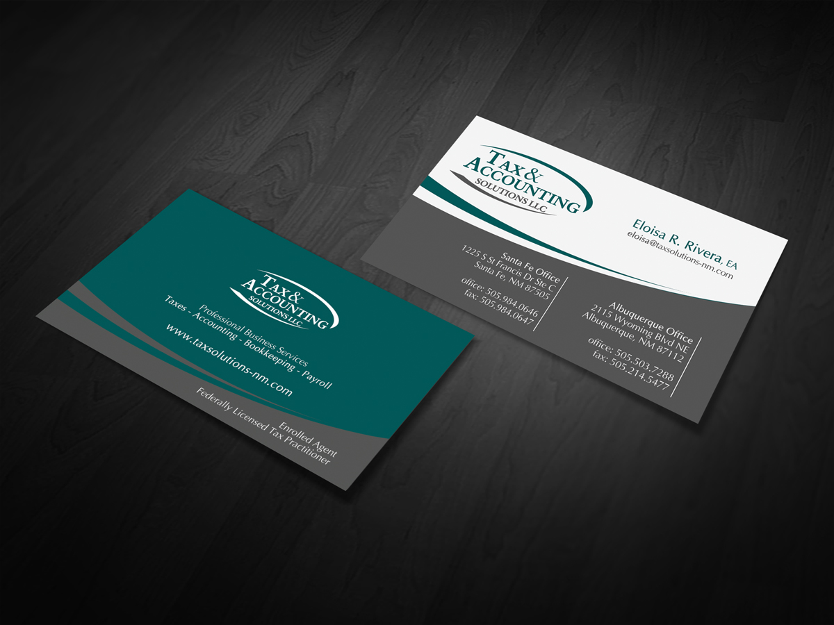 Modern, Elegant Business Card Design for Eloisa Rivera by diRtY ...