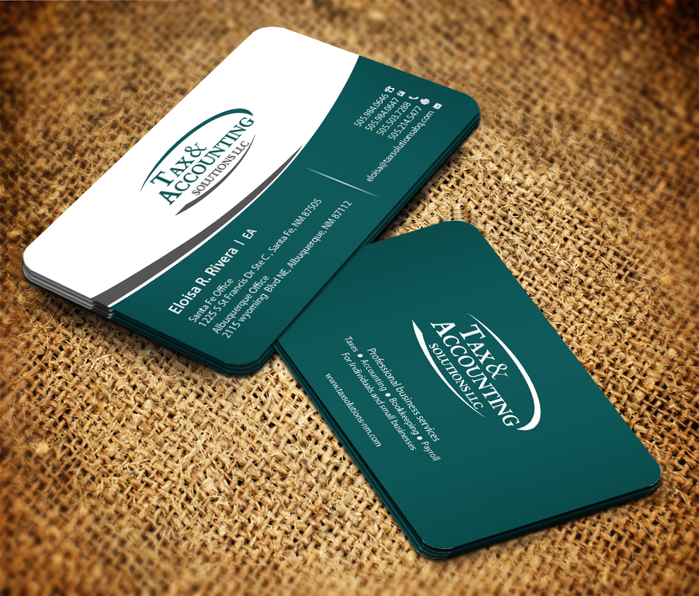 Modern elegant accounting business card design for a company by business card design by sarmishtha chattopadhyay for this project design 2307633 reheart Images