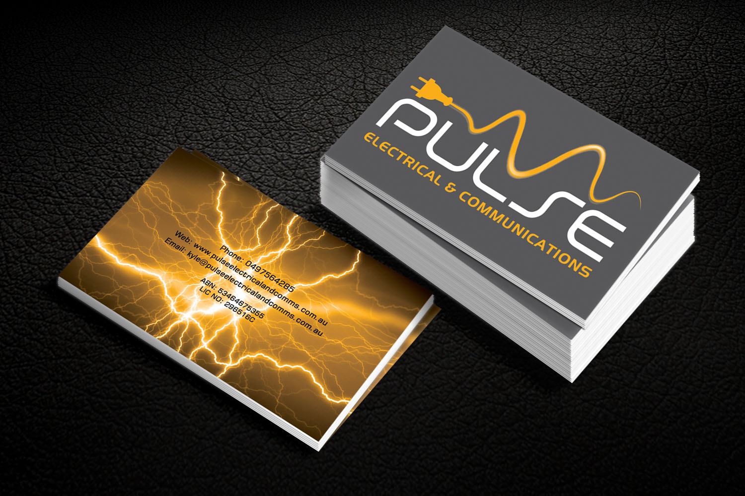 Professional, Modern, Electrician Business Card Design for Pulse ...