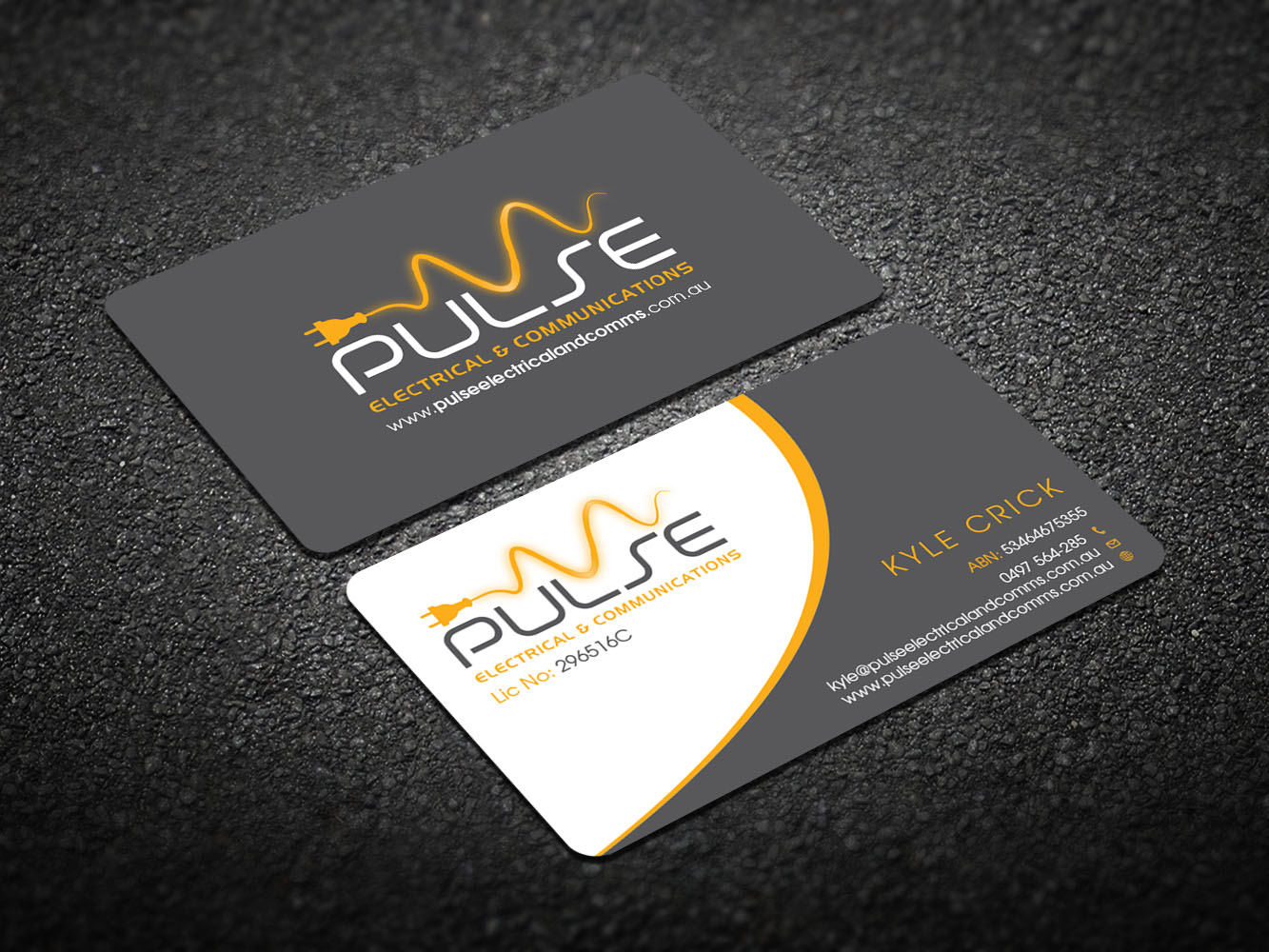 business card design by design xeneration for pulse electrical and communications design - Electrician Business Cards