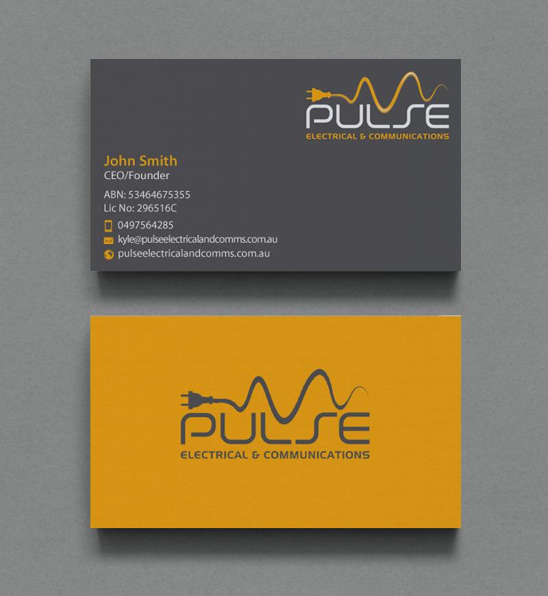 Professional, Modern, Electrician Business Card Design For Pulse