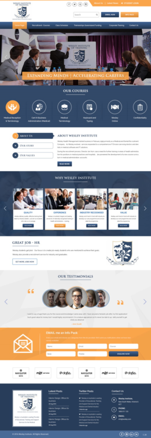 110 upmarket professional web designs for a business in