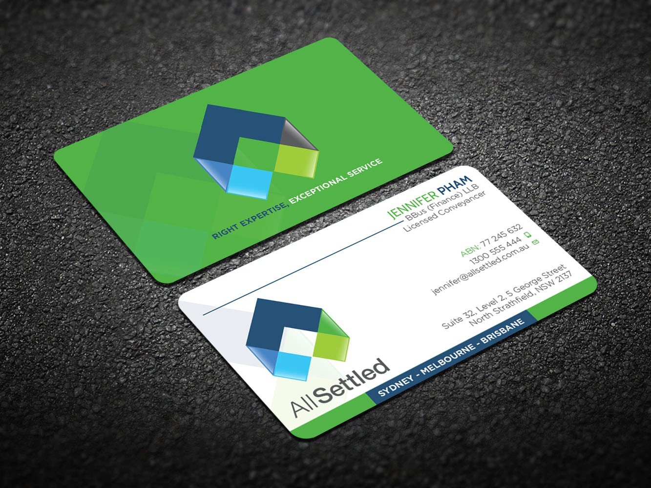 Elegant modern real estate business card design for all settled by business card design by design xeneration for all settled design 11278715 reheart Image collections