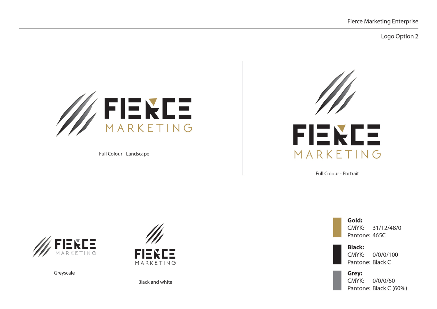Logo Design By Sammy For Fierce Marketing Enterprises Design 11282274