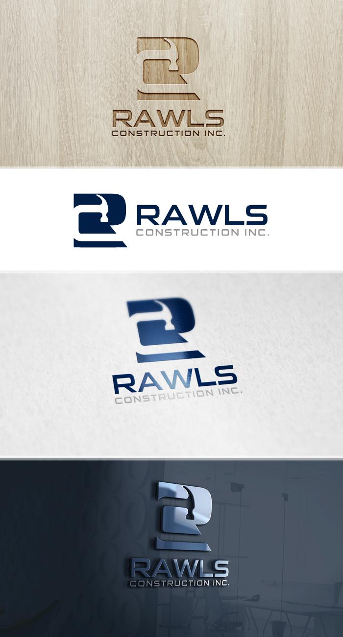 serious modern construction logo design for r c rawls