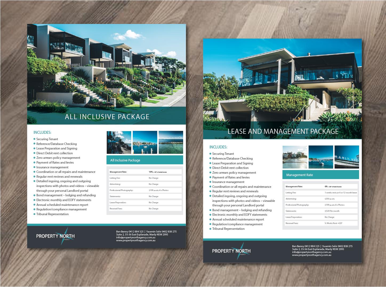 Upmarket Property Development Brochures : Upmarket serious flyer design for property north agency