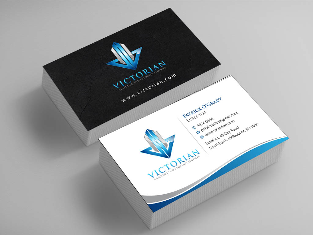 Upmarket Serious Construction Business Card Design For Victorian