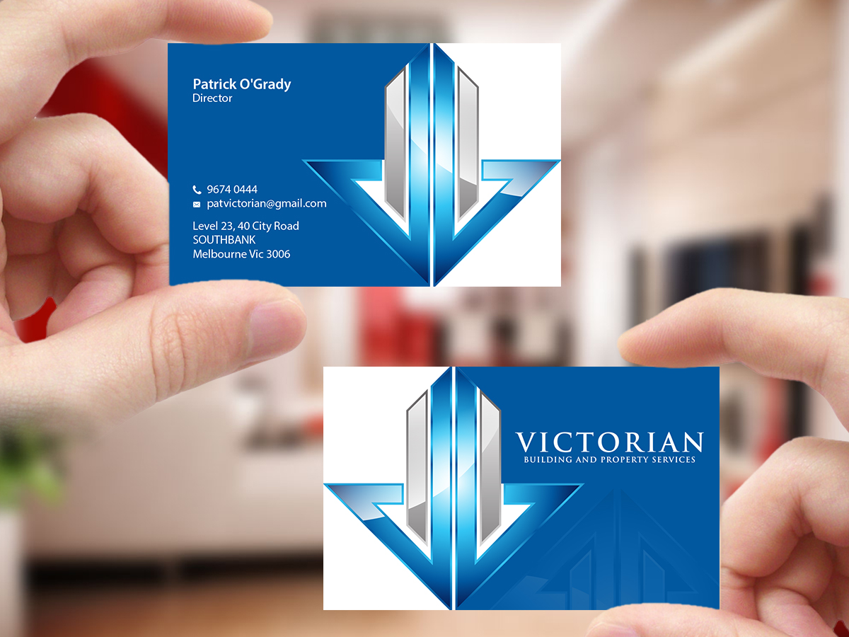 283 upmarket business card designs construction business card business card design by creations box 2015 for victorian building and property services design colourmoves