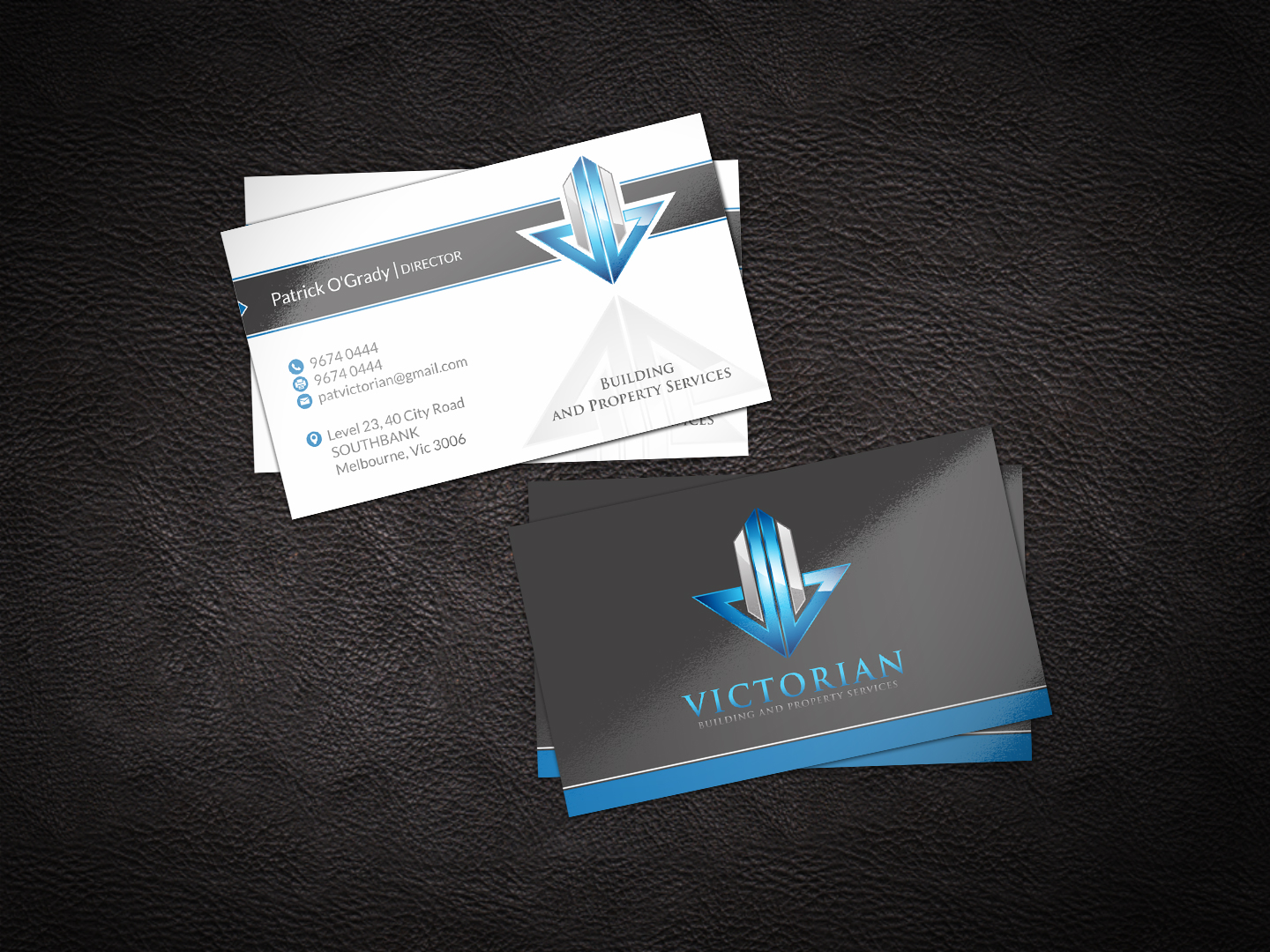 Upmarket, Serious, Construction Business Card Design for Victorian ...