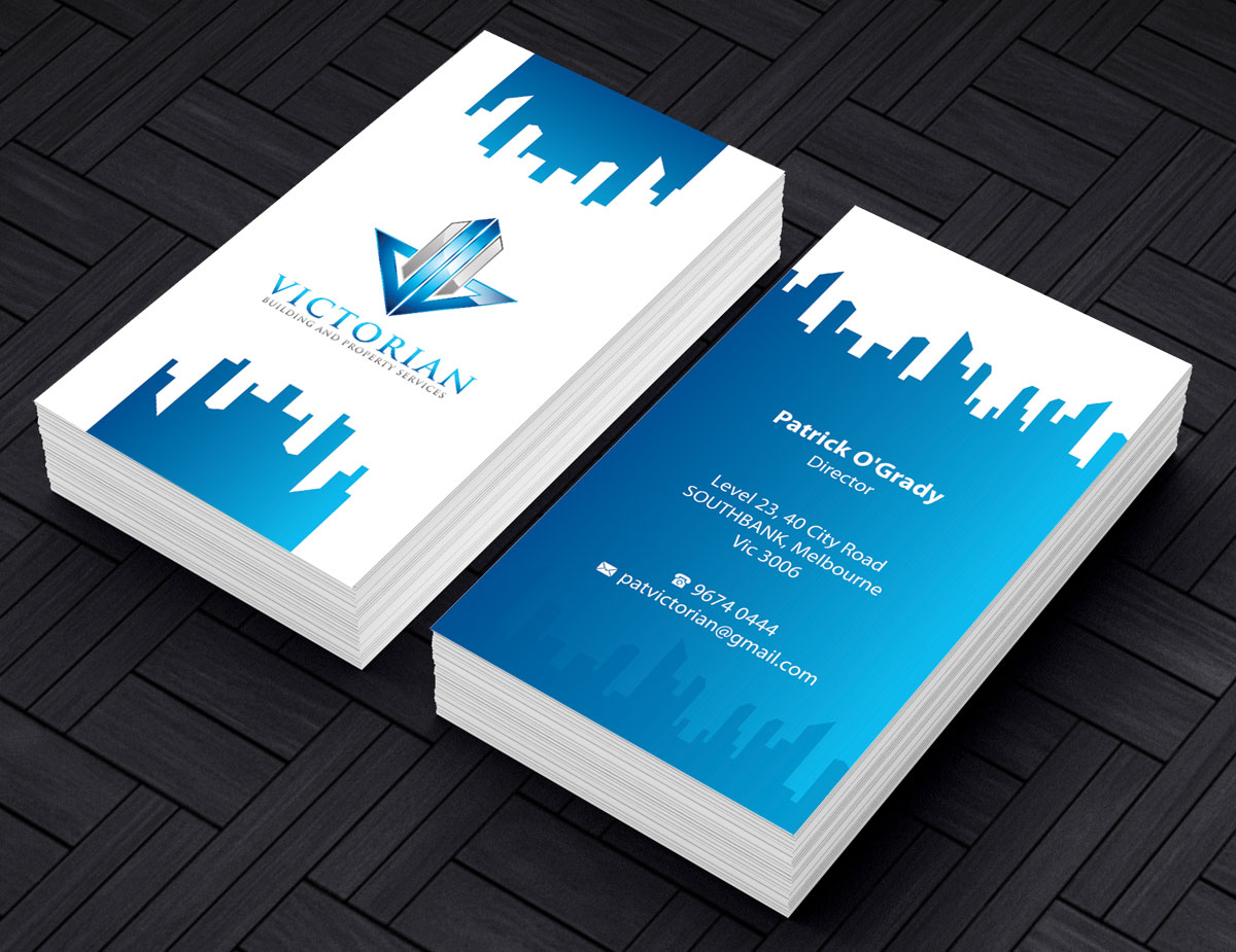 Upmarket serious construction business card design for victorian business card design by alpesh9520 for victorian building and property services design 11319756 colourmoves