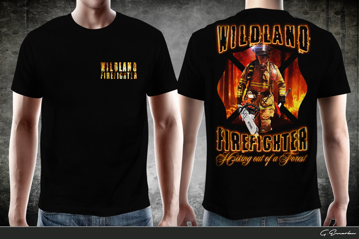 Personable conservative fire department t shirt design for Fire department tee shirt designs