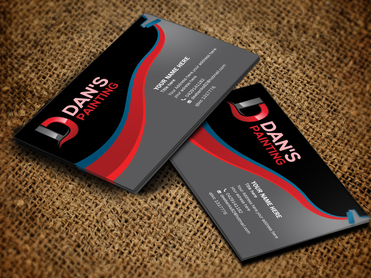 Professional, Modern, Painting And Decorating Business Card ...
