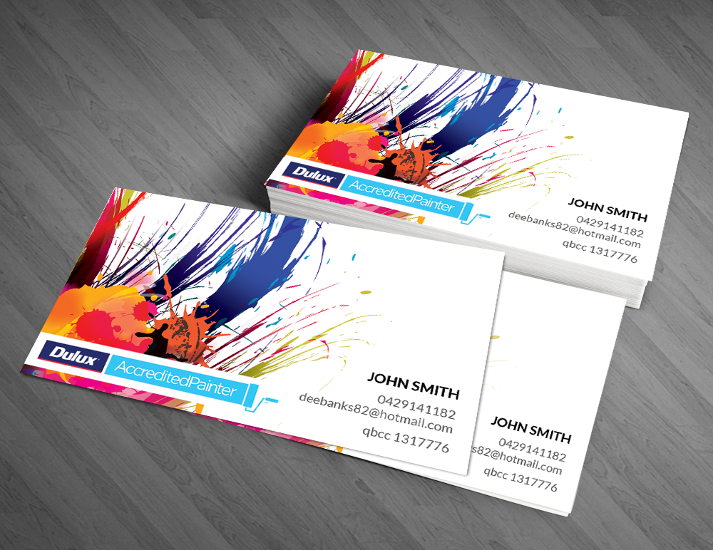 Professional modern business card design for dan banks by for Painters business card ideas